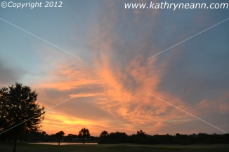 Sunrise 6/05/12 Melbourne, FL.  copyright K. Leach