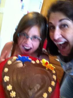 Abby and me cake