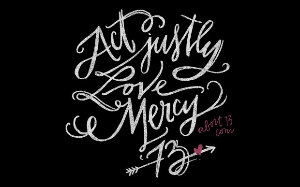 Love mercy black image