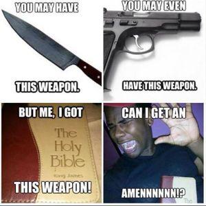prayer weapon