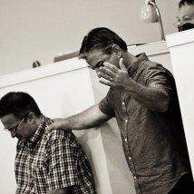 Paul E and Stephen S worshipping at Merritt Island Aglow, 2013 (c) M.I. Aglow