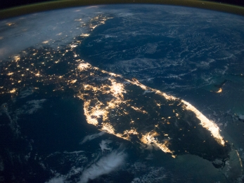 nasa-florida-at-night