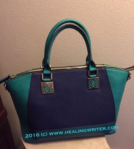 teal handbag tote HR