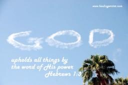 God upholds word power Hebrews 9kb