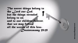 key lock Secret things Deut 29 tiny