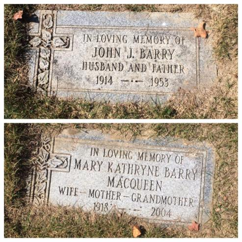 John and MaryK Barry gravemarkers