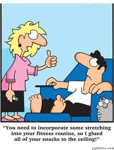 cartoon exercise