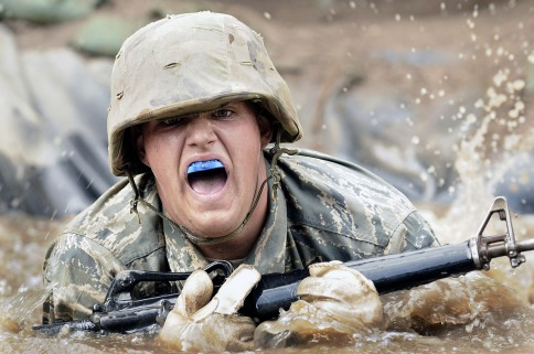 training military soldier