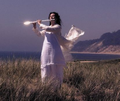 Theresa playing flute