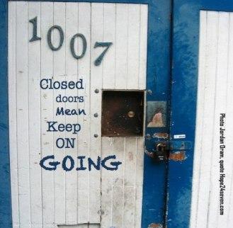 closed door keep going2