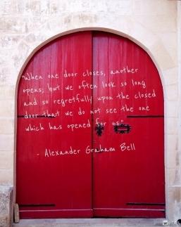 red door Alex Bell quote