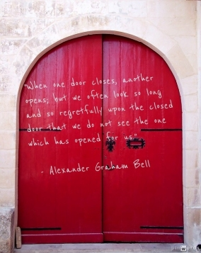 red door Alex Bell quote