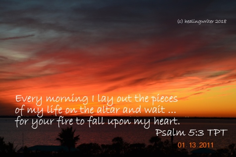 Psalm 5 fire on my heart altar