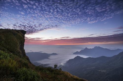 Thailand cliff sky