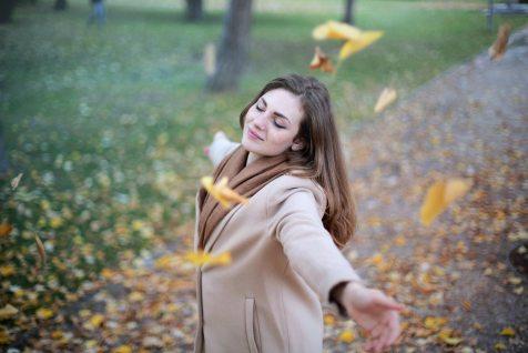 woman smiling pleasure