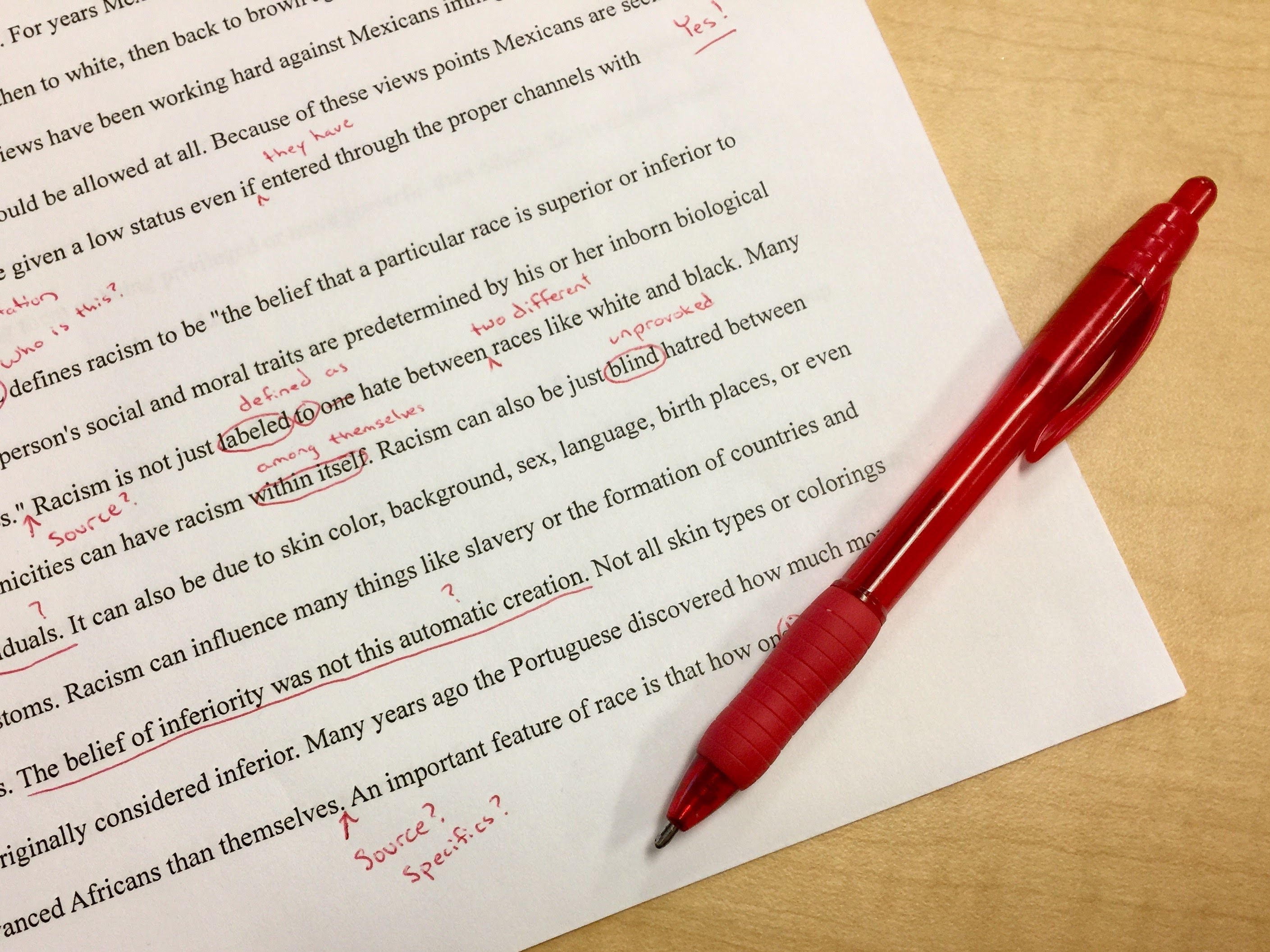 editing image red pen