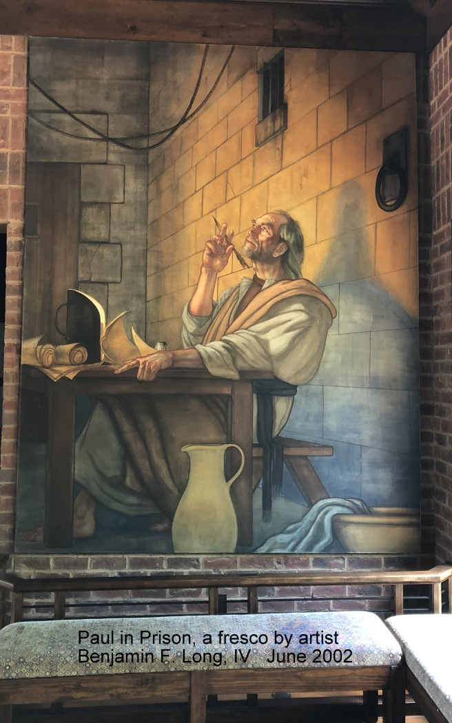 Paul in prison fresco