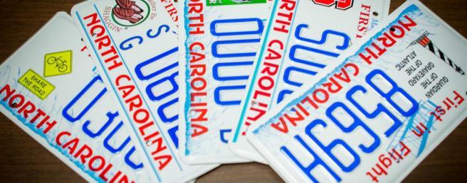 NC car tag