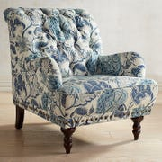 Pier 1 chas chair blue