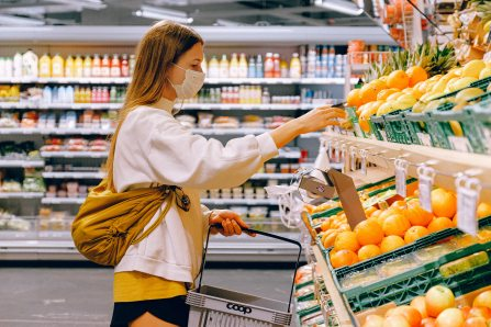 woman shopping grocery store